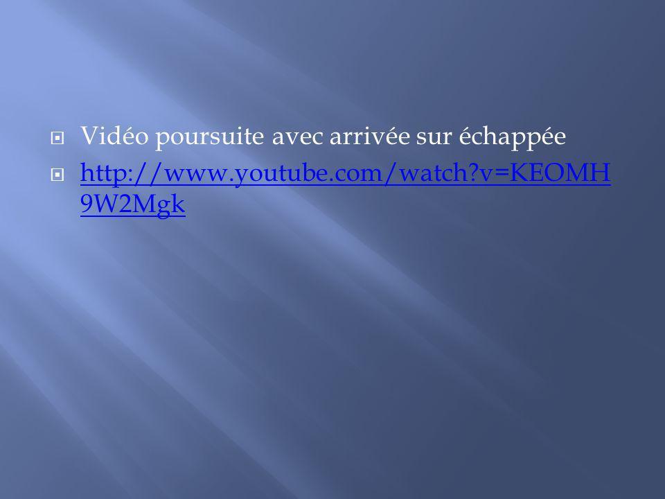 Vidéo poursuite avec arrivée sur échappée