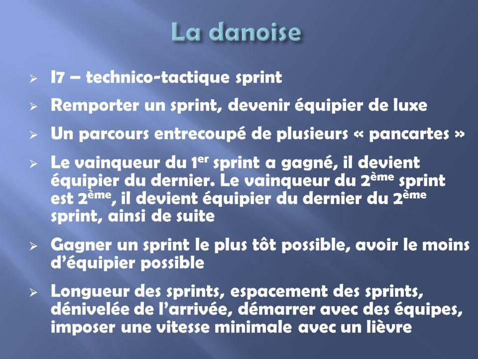 La danoise I7 – technico-tactique sprint