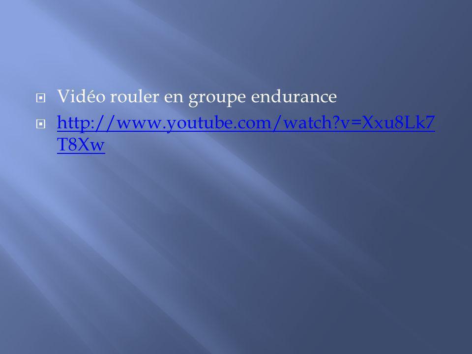 Vidéo rouler en groupe endurance