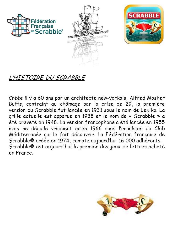 L'HISTOIRE DU SCRABBLE