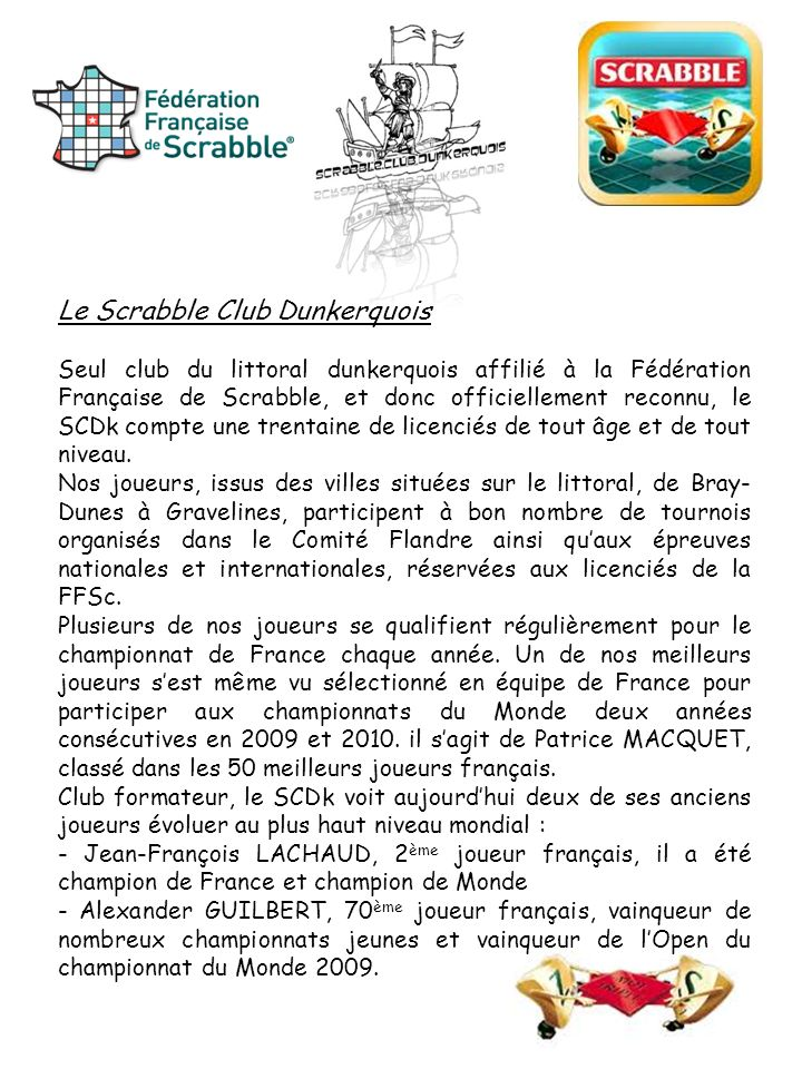 Le Scrabble Club Dunkerquois