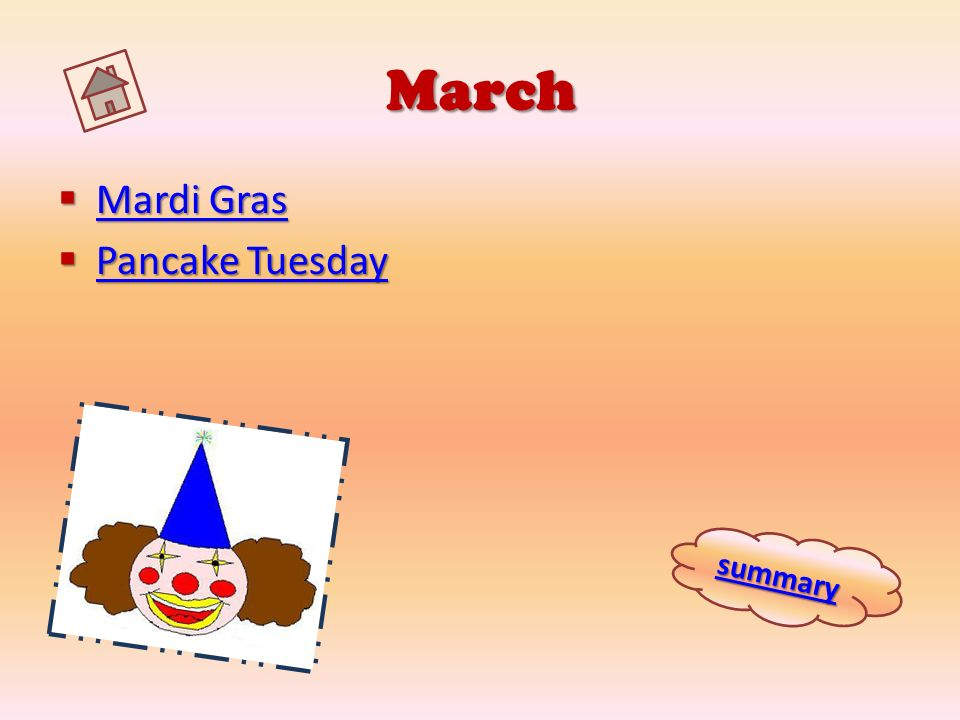 March Mardi Gras Pancake Tuesday summary