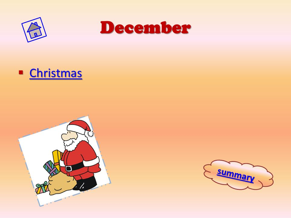 December Christmas summary
