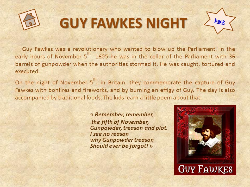 GUY FAWKES NIGHT back.