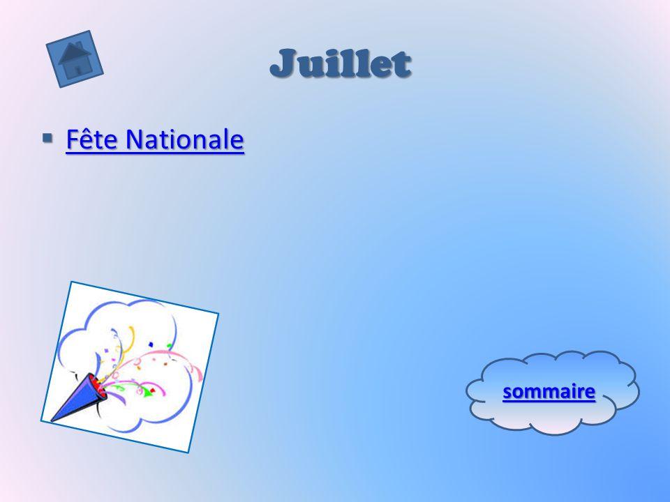 Juillet Fête Nationale sommaire