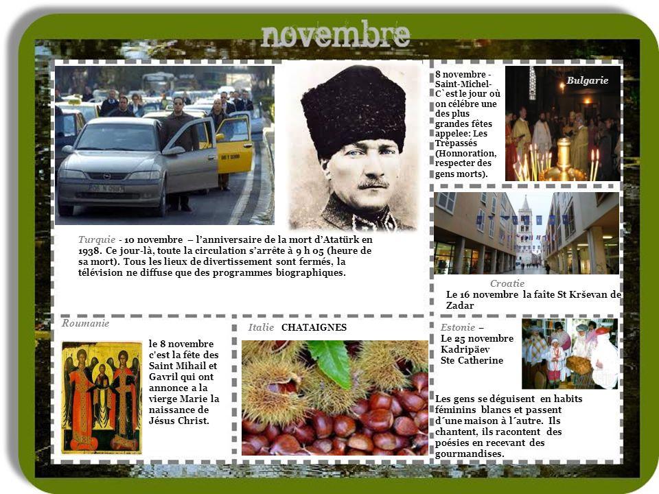 8 novembre -Saint-Michel-C`est le jour où on célébre une des plus grandes fêtes appelee: Les Trépassés (Honnoration, respecter des gens morts).