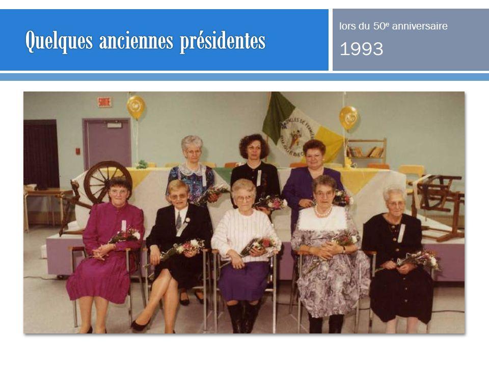 Quelques anciennes présidentes