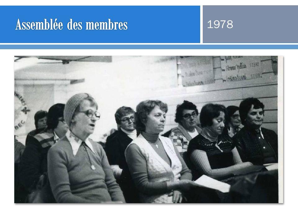 Assemblée des membres 1978