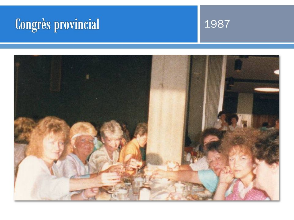 Congrès provincial 1987