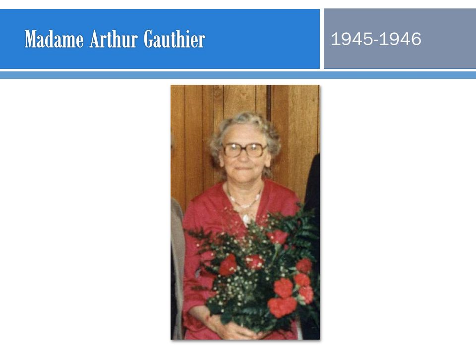 Madame Arthur Gauthier