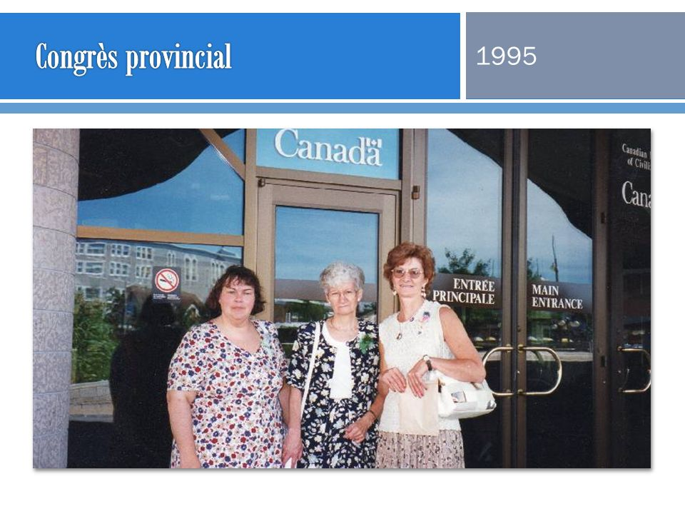 Congrès provincial 1995