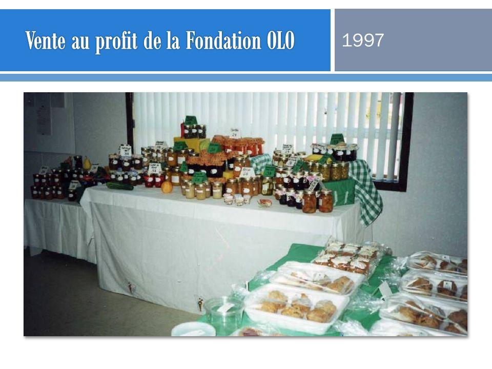 Vente au profit de la Fondation OLO