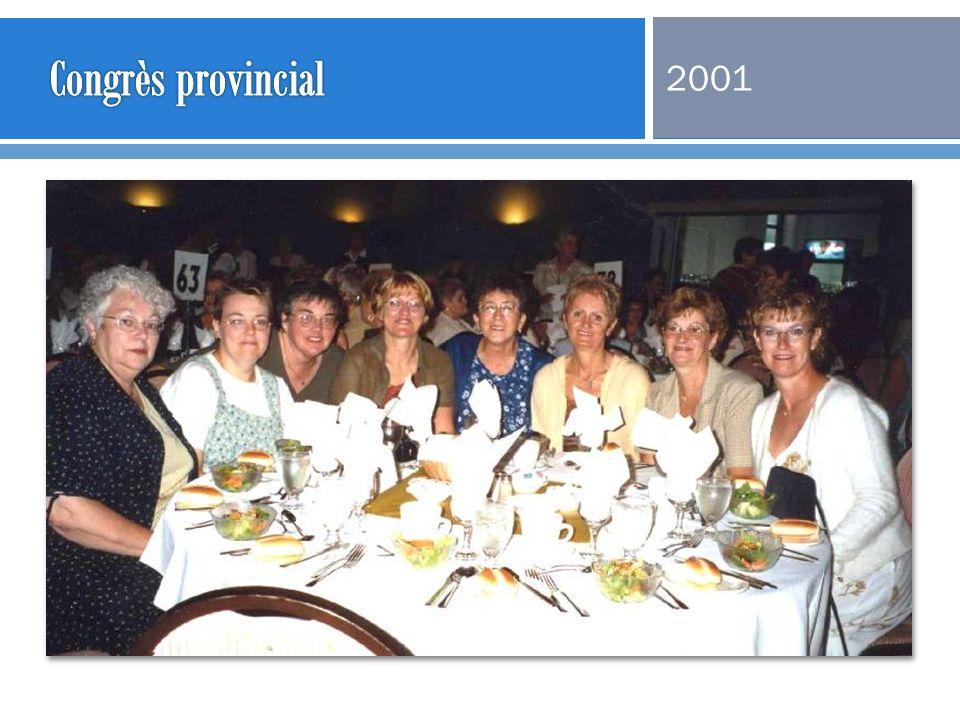 Congrès provincial 2001