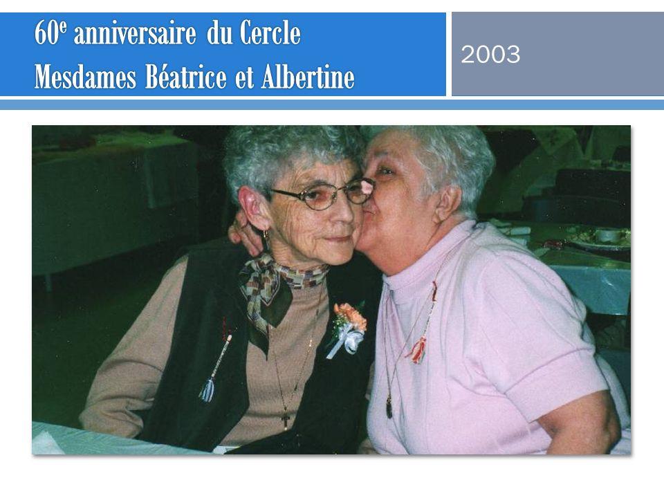 60e anniversaire du Cercle Mesdames Béatrice et Albertine