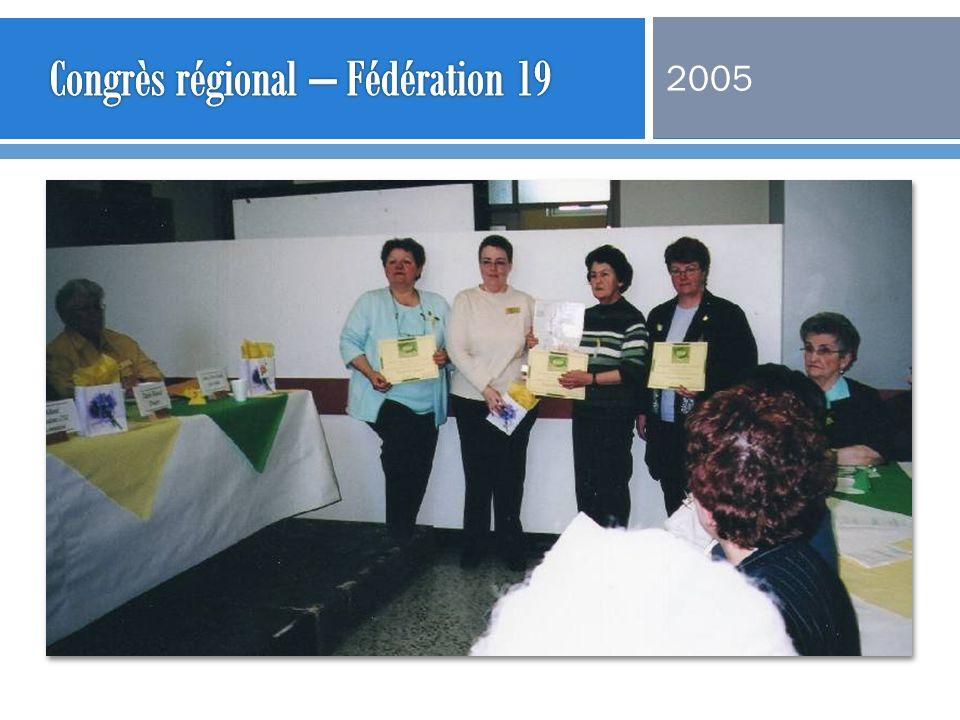 Congrès régional – Fédération 19