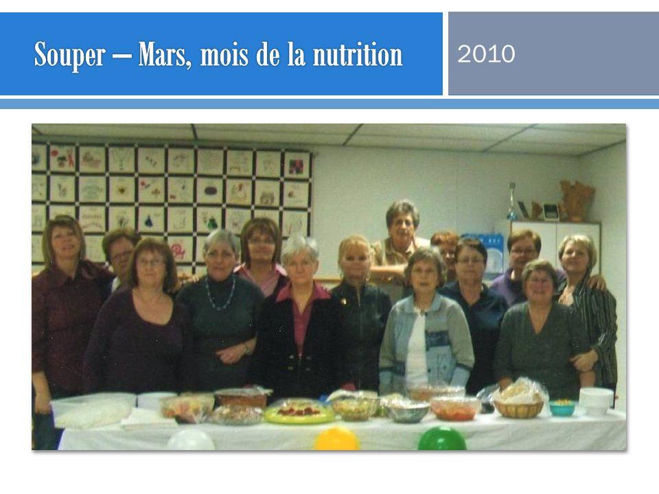 Souper – Mars, mois de la nutrition
