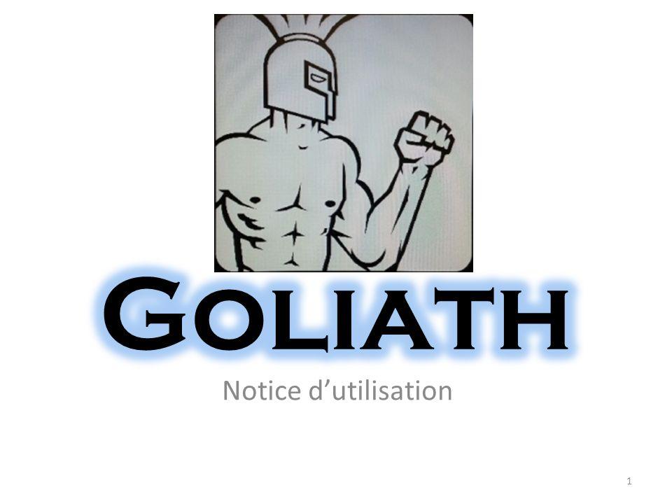 Goliath Notice d'utilisation
