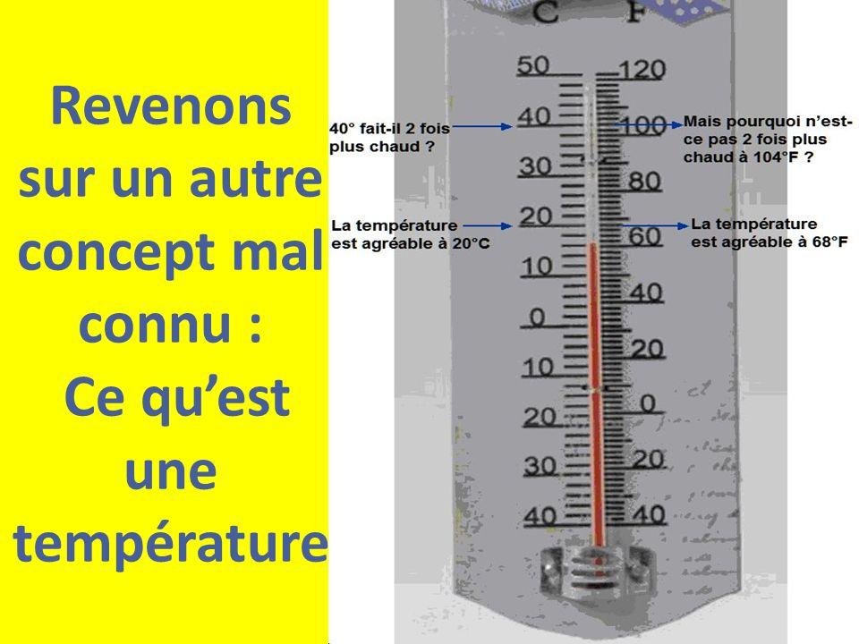 Revenons sur un autre concept mal connu : Ce qu'est une température