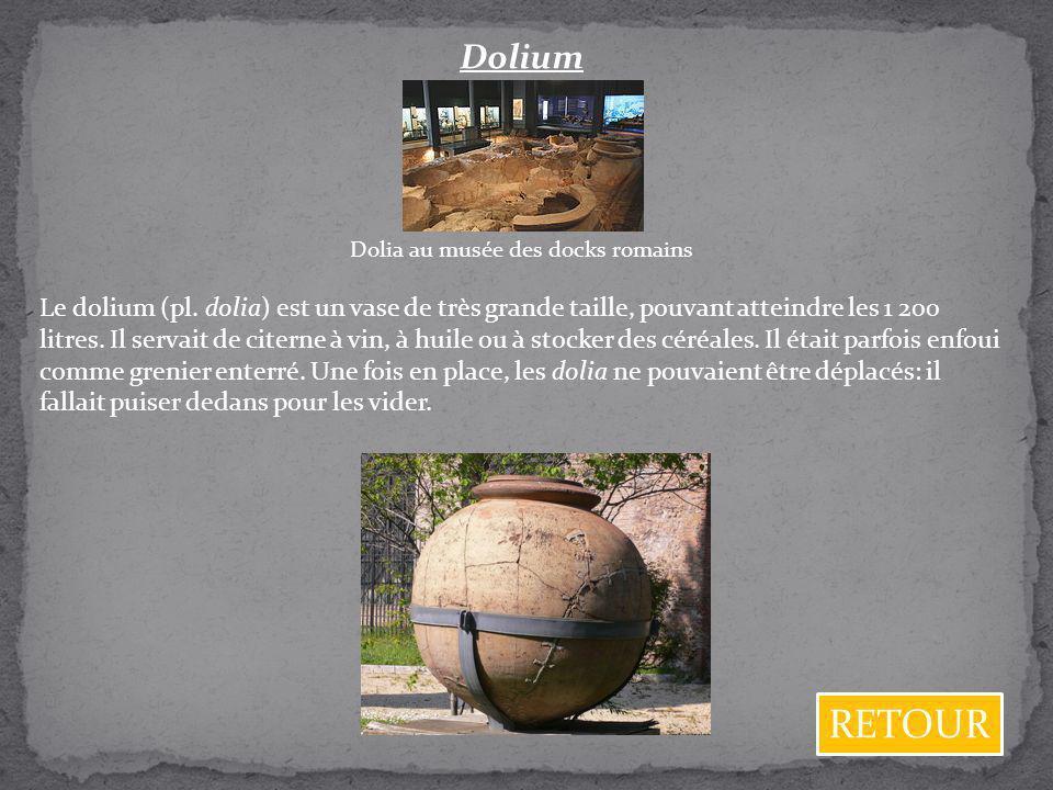 Dolia au musée des docks romains