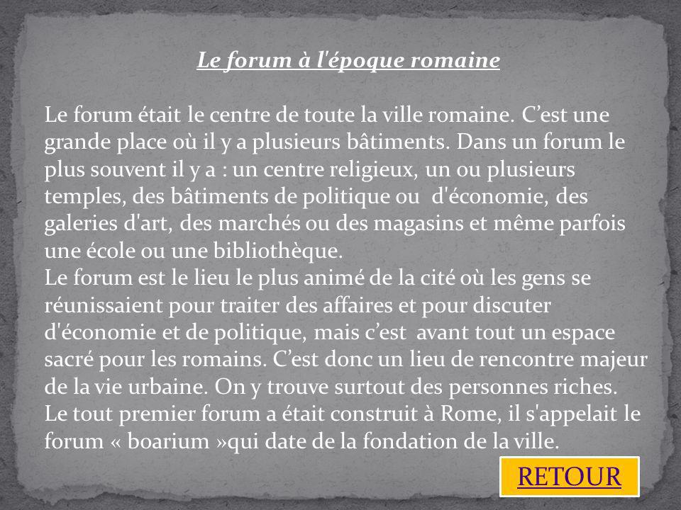Le forum à l époque romaine