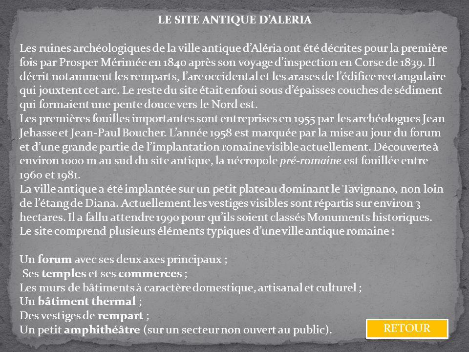 LE SITE ANTIQUE D'ALERIA