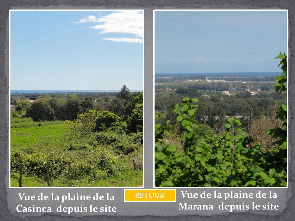 Vue de la plaine de la Marana depuis le site