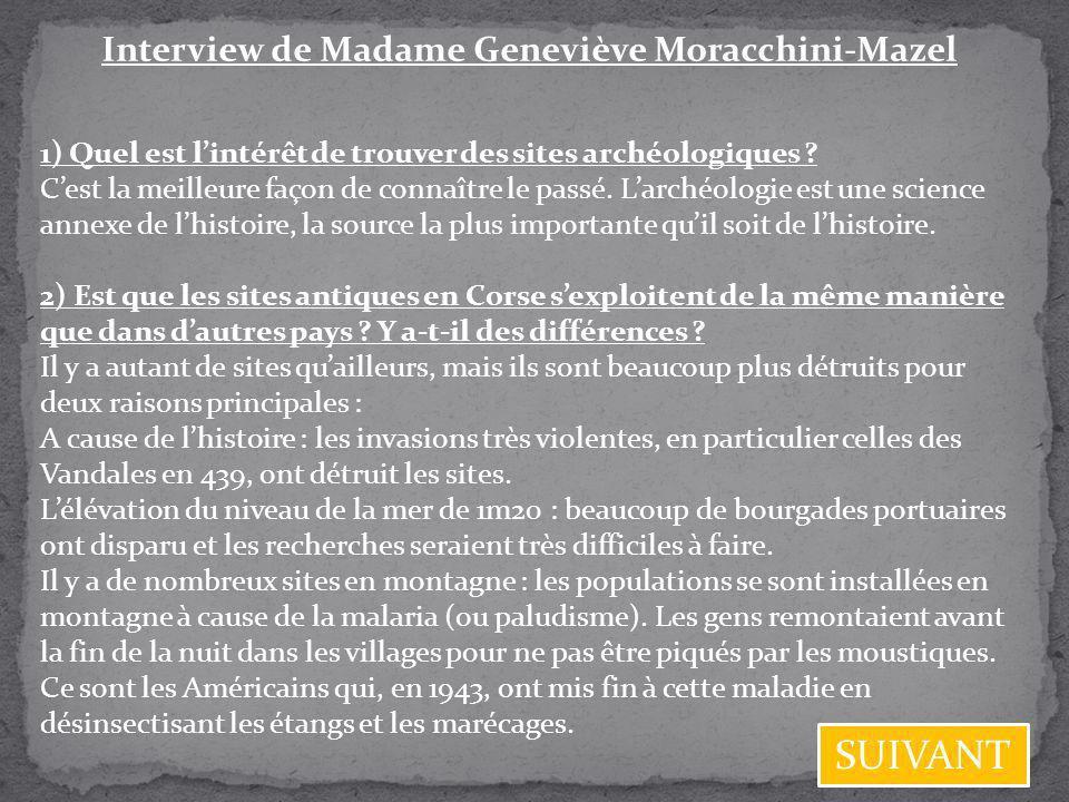 Interview de Madame Geneviève Moracchini-Mazel