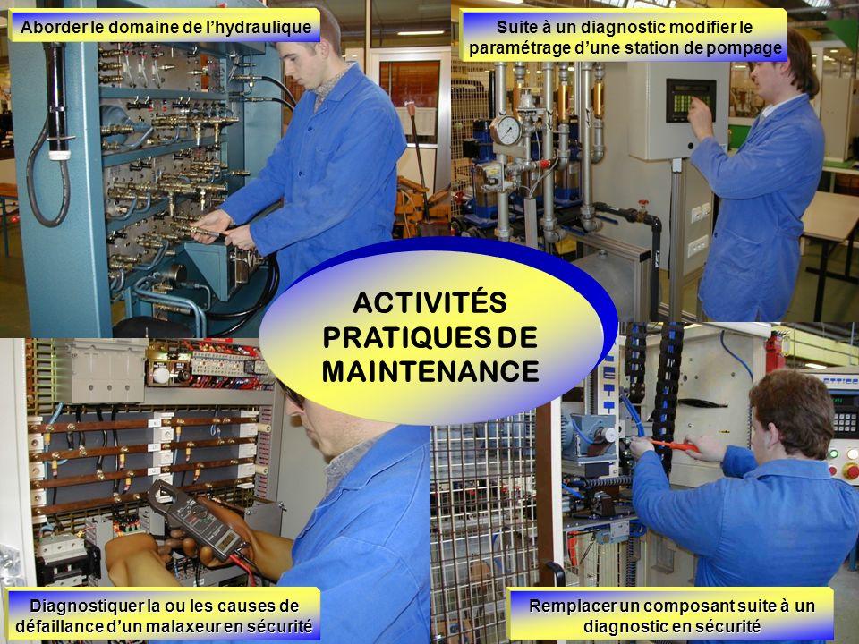 ACTIVITÉS PRATIQUES DE MAINTENANCE