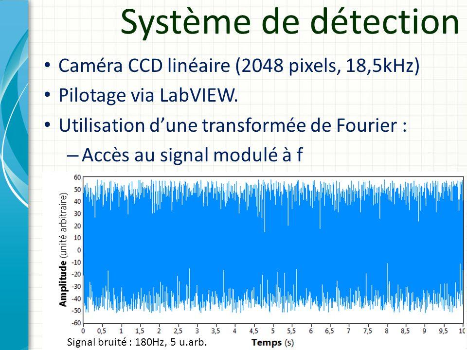 Système de détection Caméra CCD linéaire (2048 pixels, 18,5kHz)