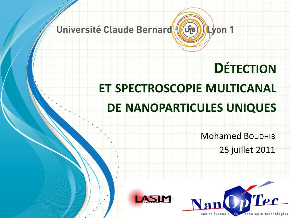 Détection et spectroscopie multicanal de nanoparticules uniques