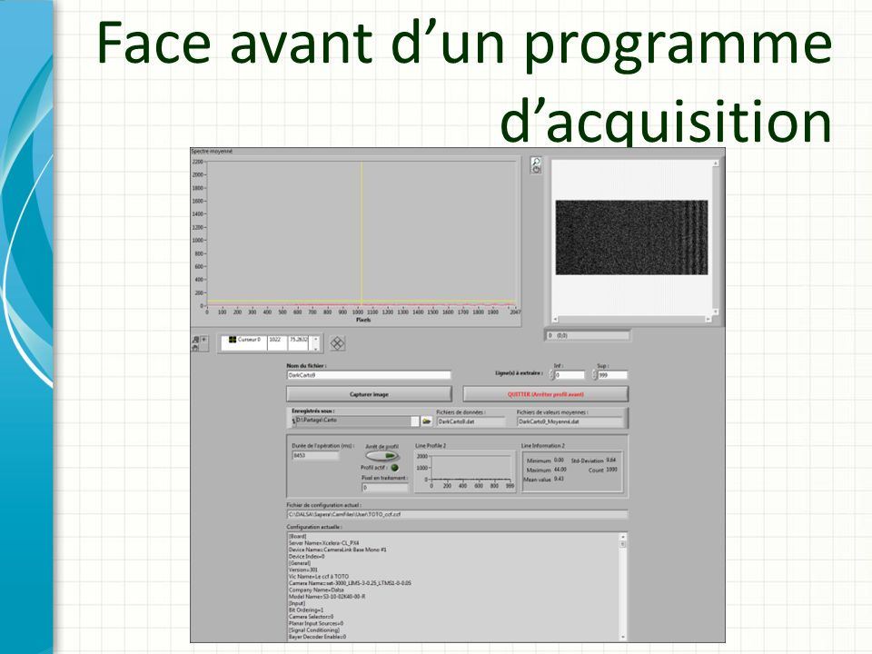Face avant d'un programme d'acquisition