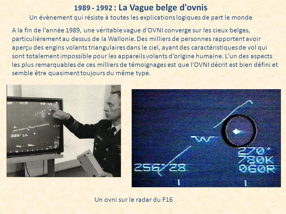 1989 - 1992 : La Vague belge d ovnis