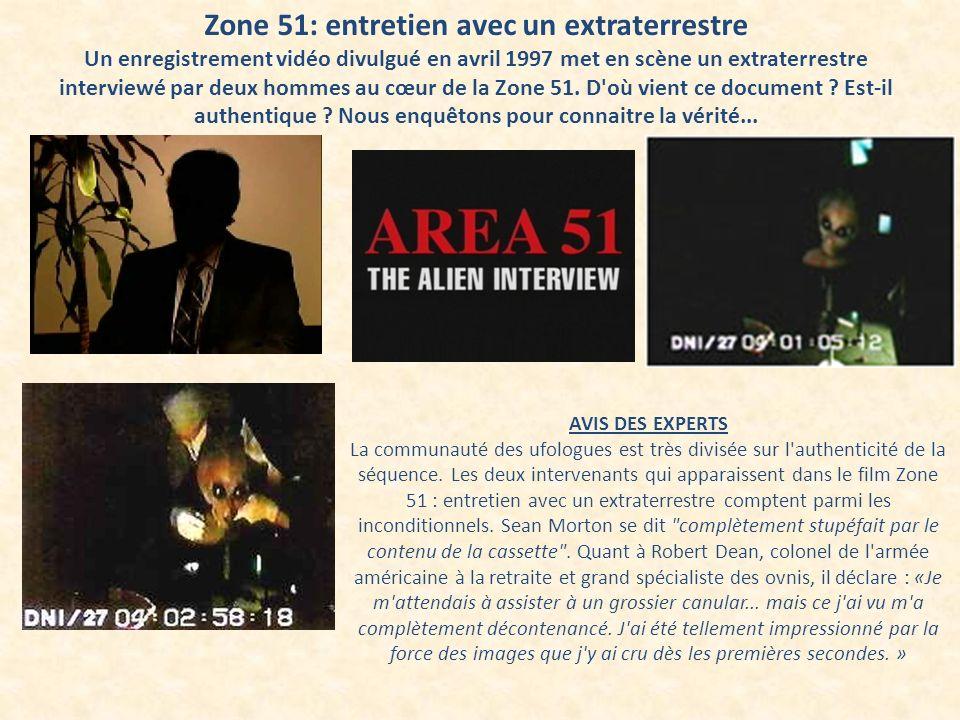 Zone 51: entretien avec un extraterrestre