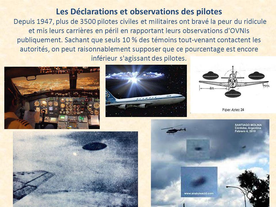 Les Déclarations et observations des pilotes