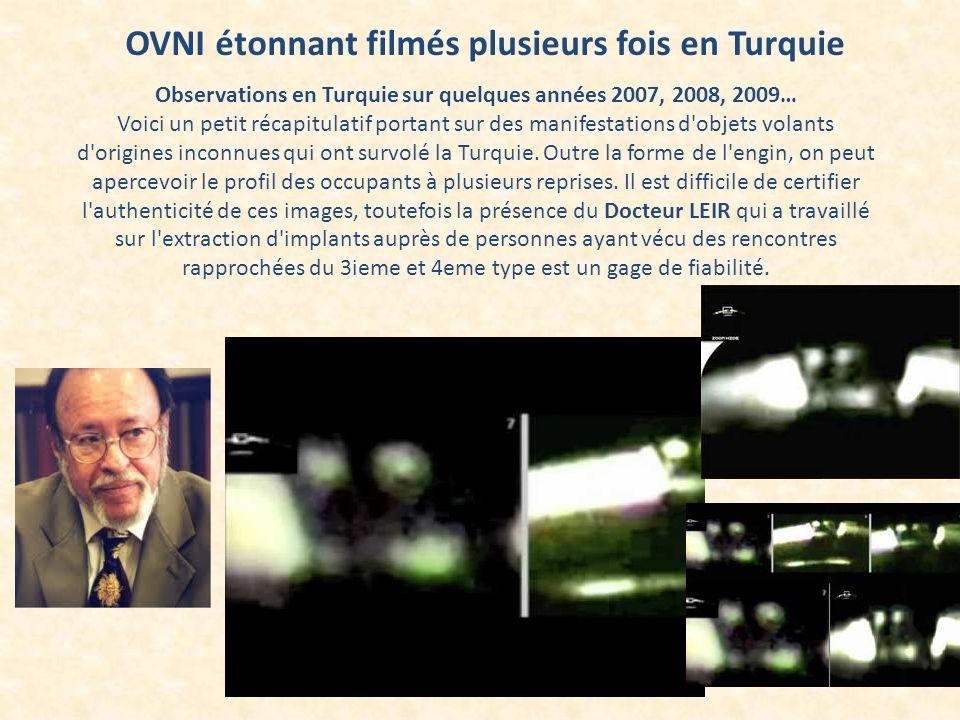 OVNI étonnant filmés plusieurs fois en Turquie