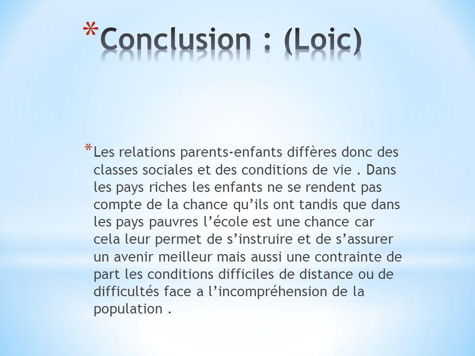 Conclusion : (Loic)