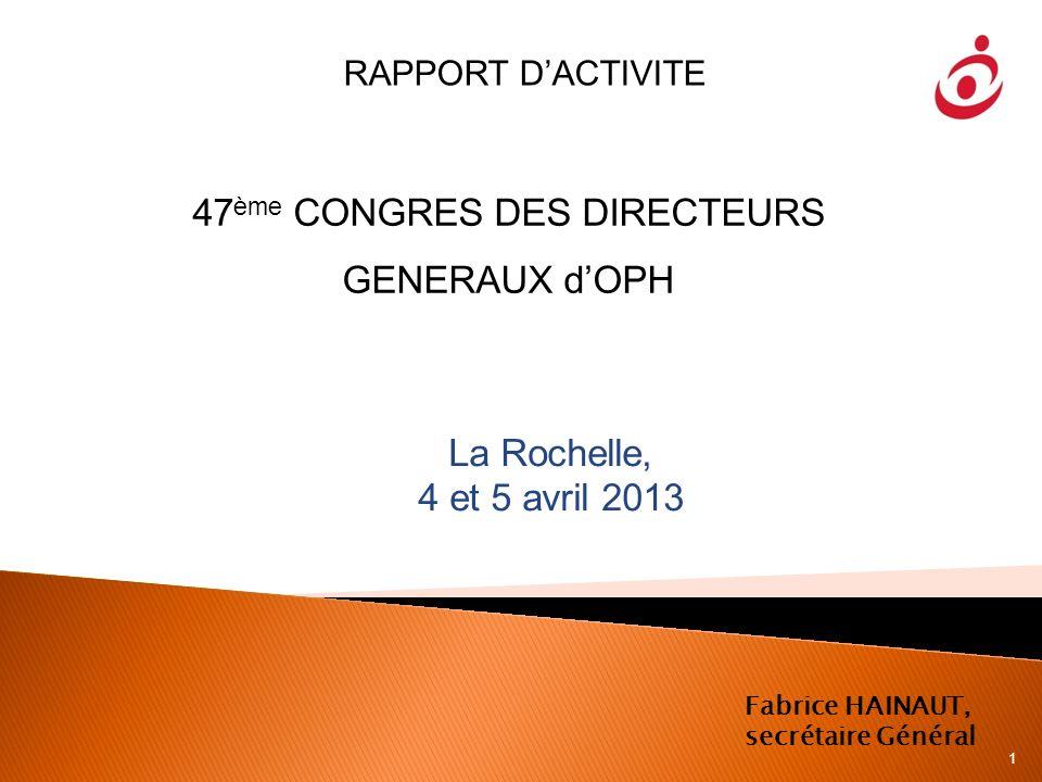47ème CONGRES DES DIRECTEURS GENERAUX d'OPH