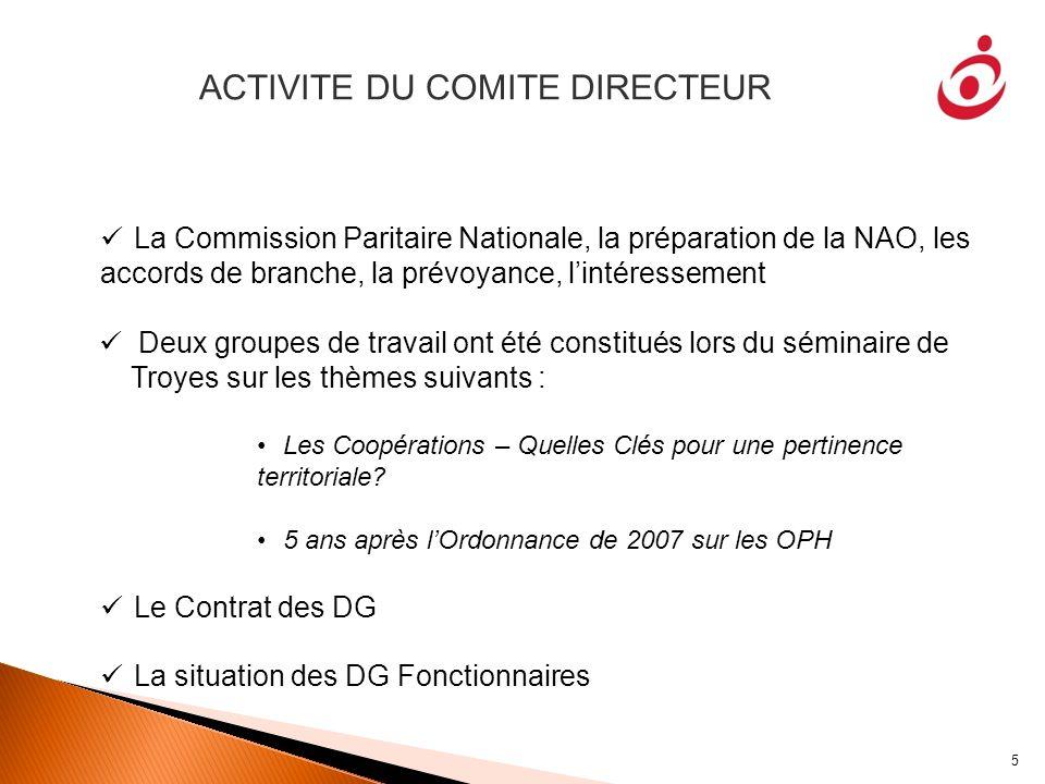 ACTIVITE DU COMITE DIRECTEUR