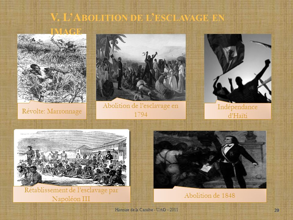 V. L'Abolition de l'esclavage en image