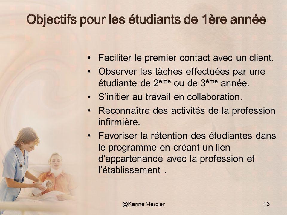 Objectifs pour les étudiants de 1ère année