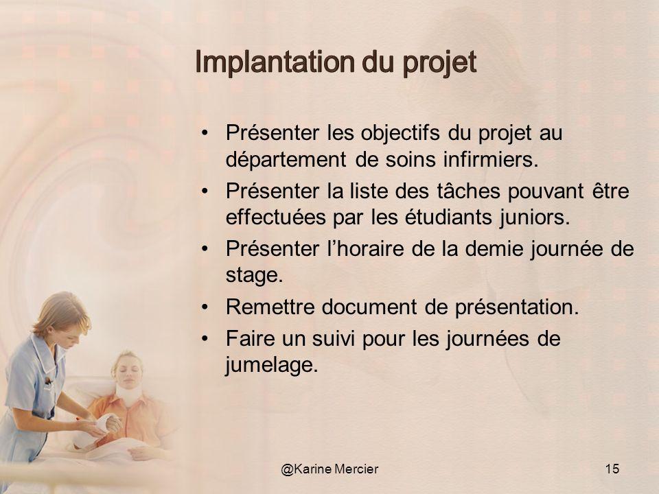 Implantation du projet
