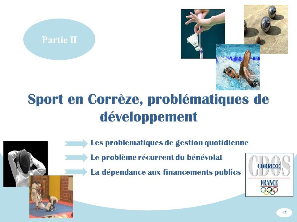 Sport en Corrèze, problématiques de développement