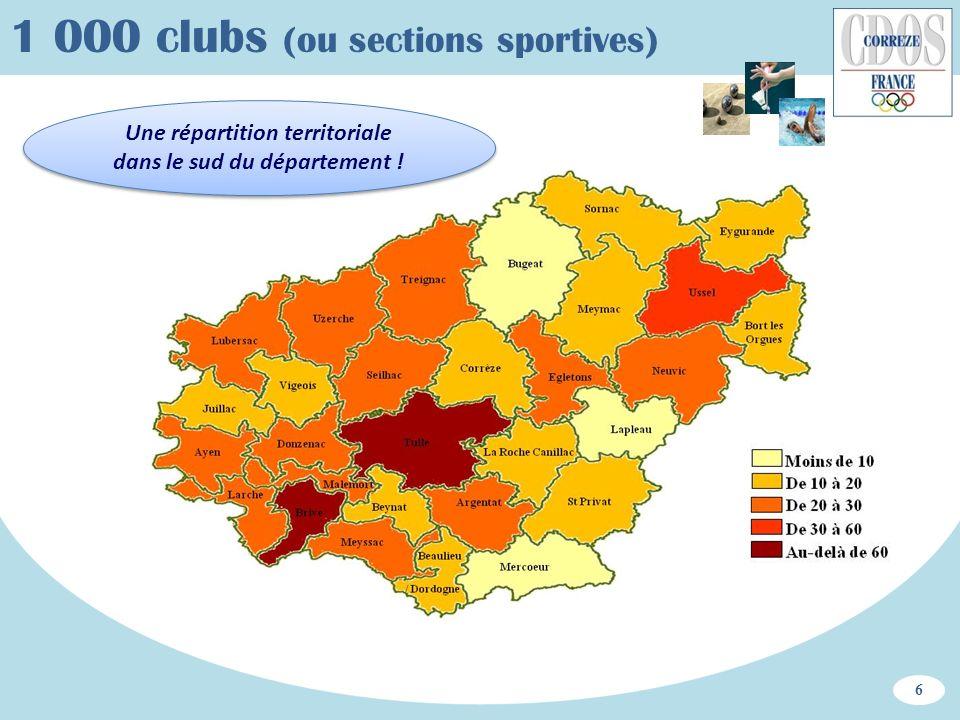 Une répartition territoriale dans le sud du département !