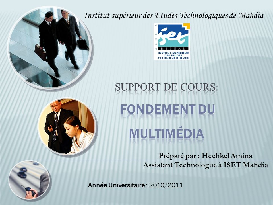 Support de cours: Fondement du Multimédia
