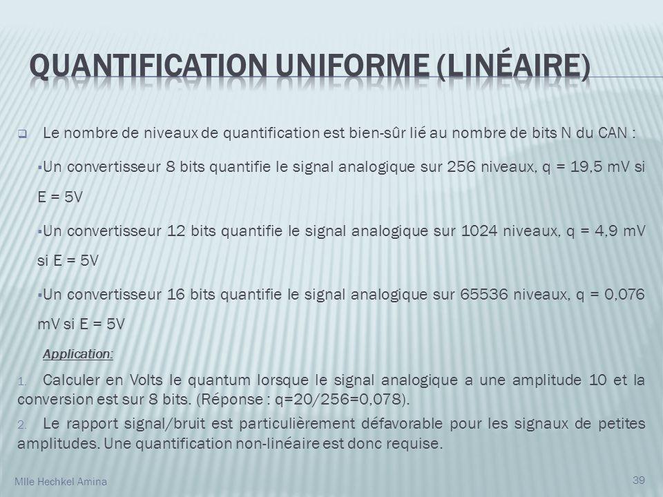 Quantification uniforme (linéaire)