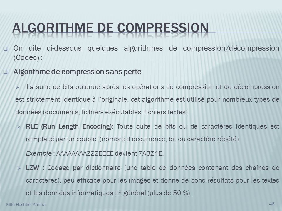Algorithme de Compression