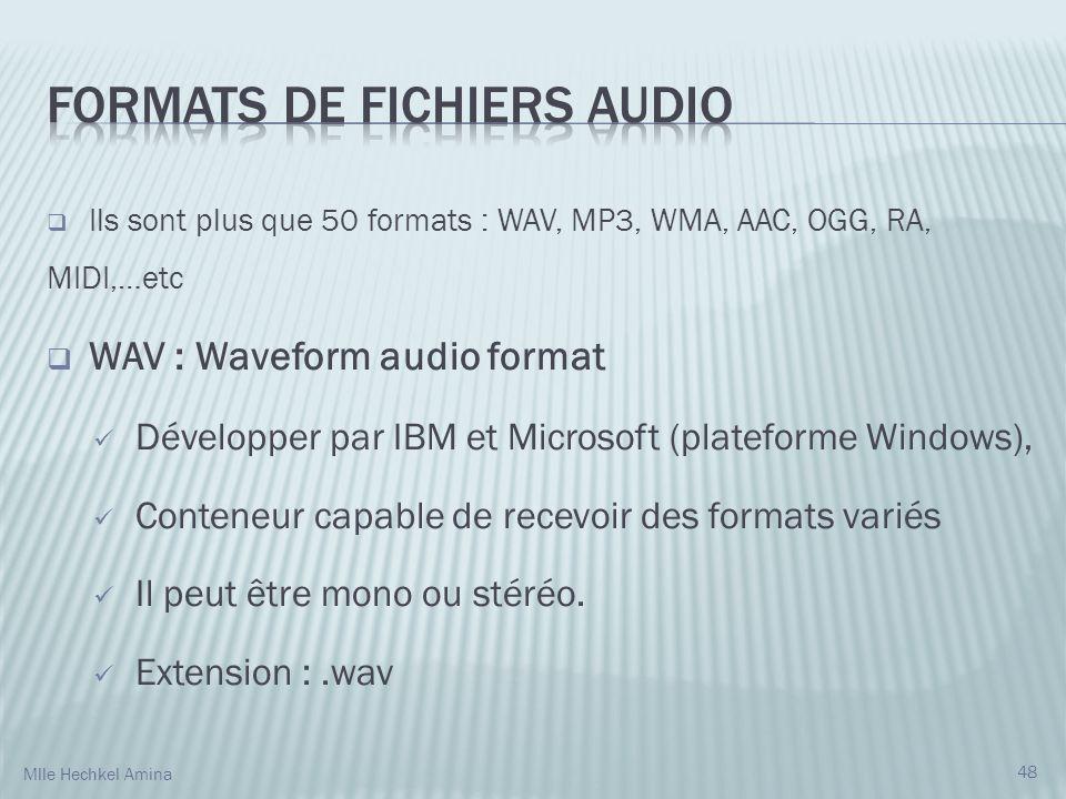 Formats de fichiers audio