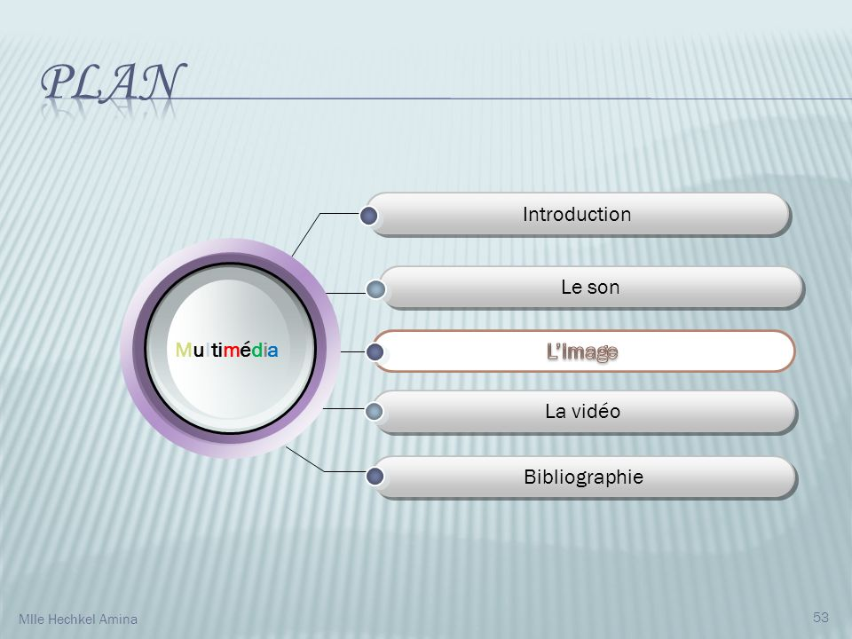 Plan Introduction Le son Multimédia L'image La vidéo Bibliographie