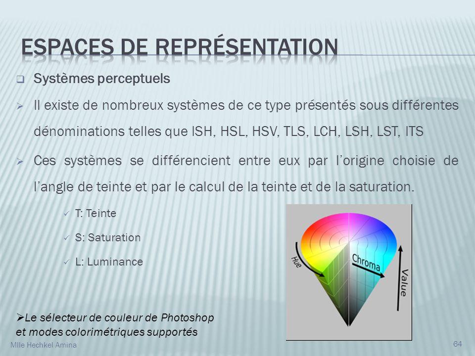 Espaces de représentation