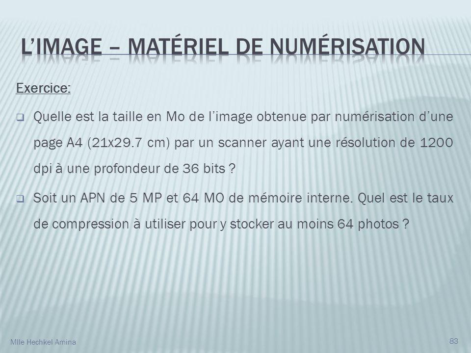 L'IMAGE – Matériel de numérisation